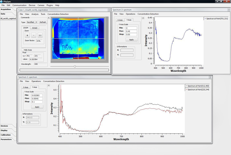 PHySpec | Hyperspectral Images Analysis and Control Software