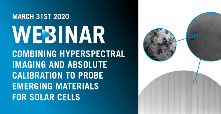 Webinar on Hyperspectral Imaging and Absolute Calibration for Photovoltaic